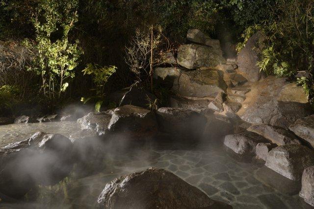 露天風呂・山桜