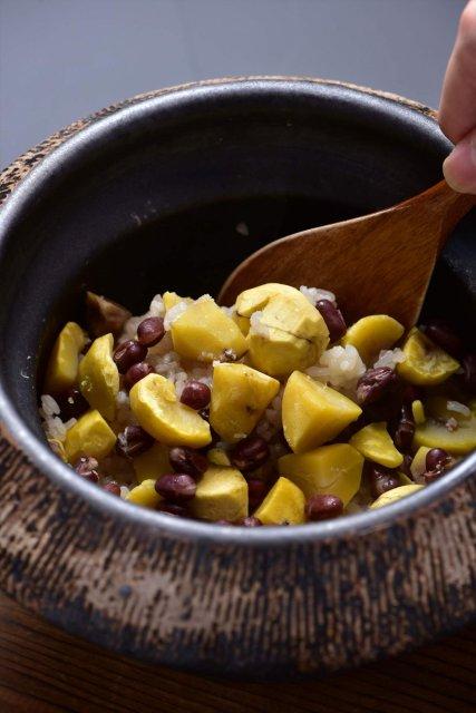 栗と小豆の釜焚きご飯