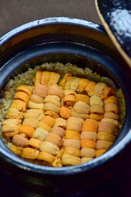 雲丹土鍋ご飯