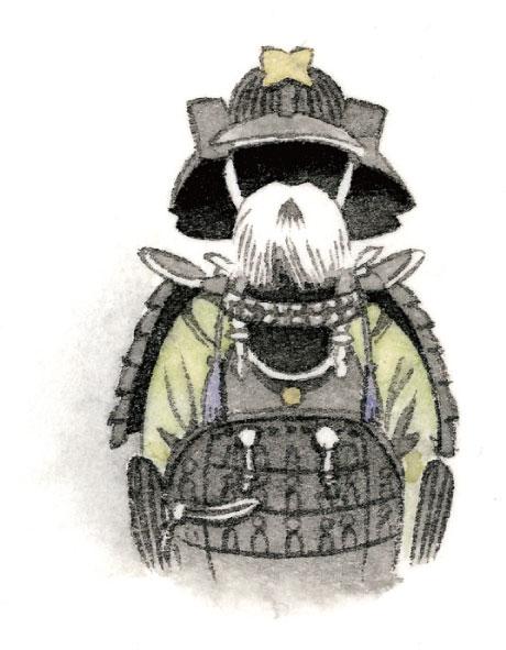 毛利元就公ゆかりの武者鎧